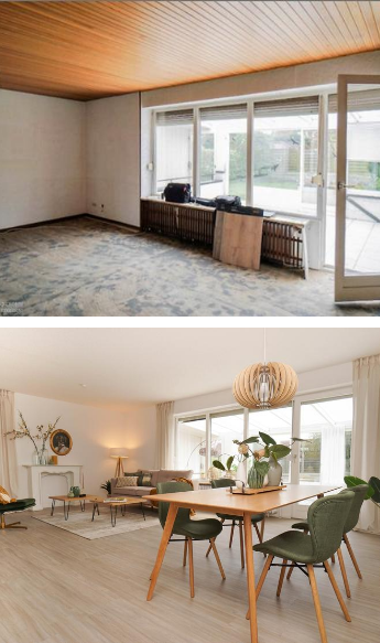 fix & flip Haus Staging in Bremerhaven