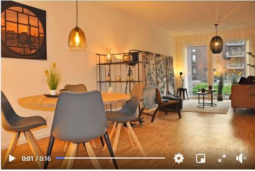 Home Staging einer 2-Zimmer-Muster-Wohnung in Hamburg-Wandsbek
