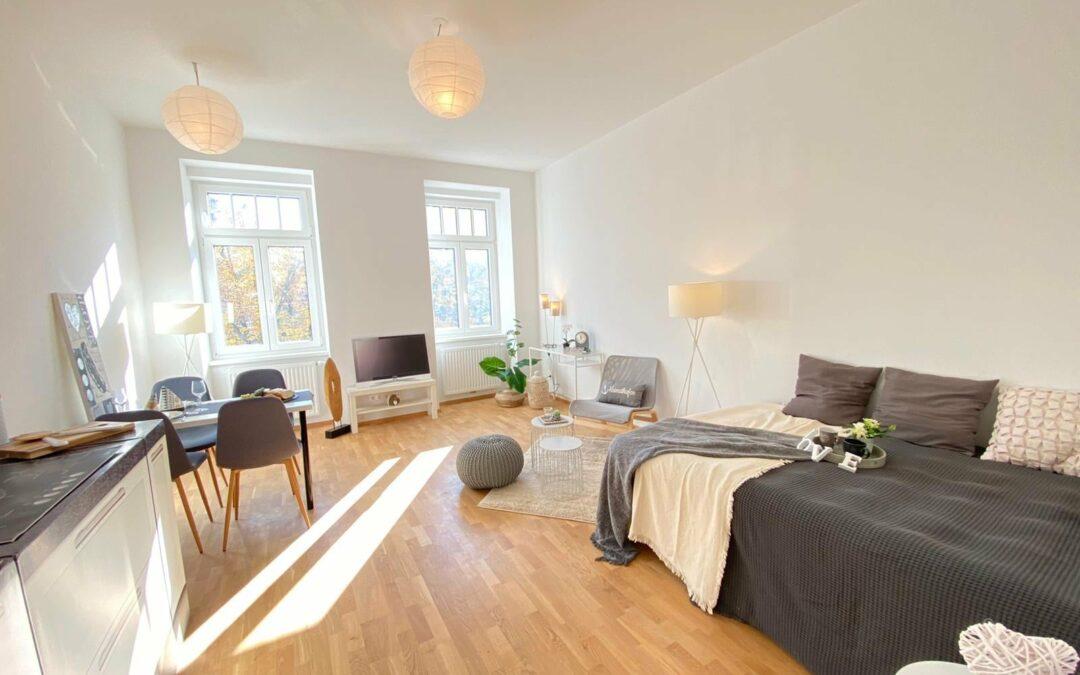 1-Zimmer-Wohnung erfüllt Wohnträume dank Home Staging