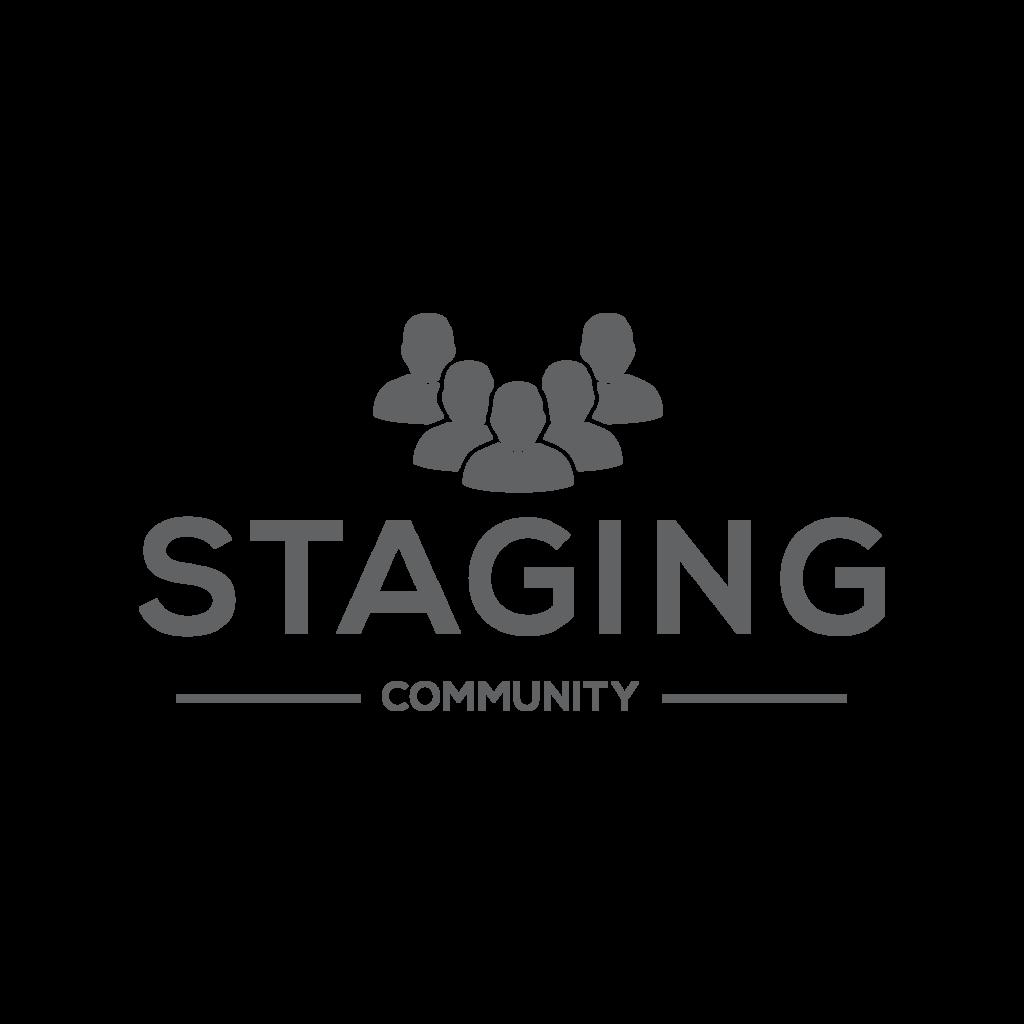 Staging Community LOGO in dunkelgrau