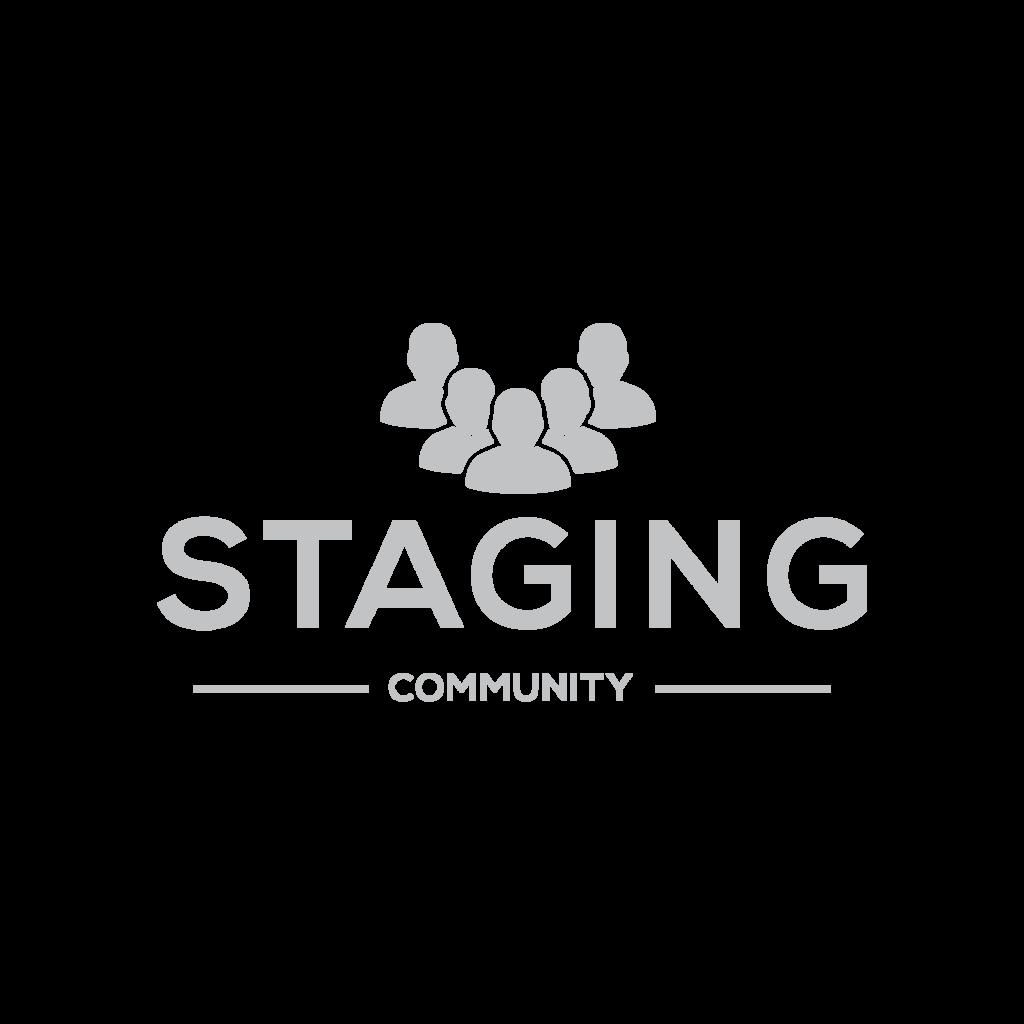 Staging Community LOGO hellgrau