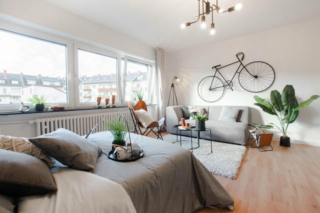 1-Zimmer-Wohnung Home Staging Ludwigshafen